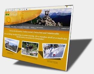Click here to view Mountain Pursuits *after* the redesign