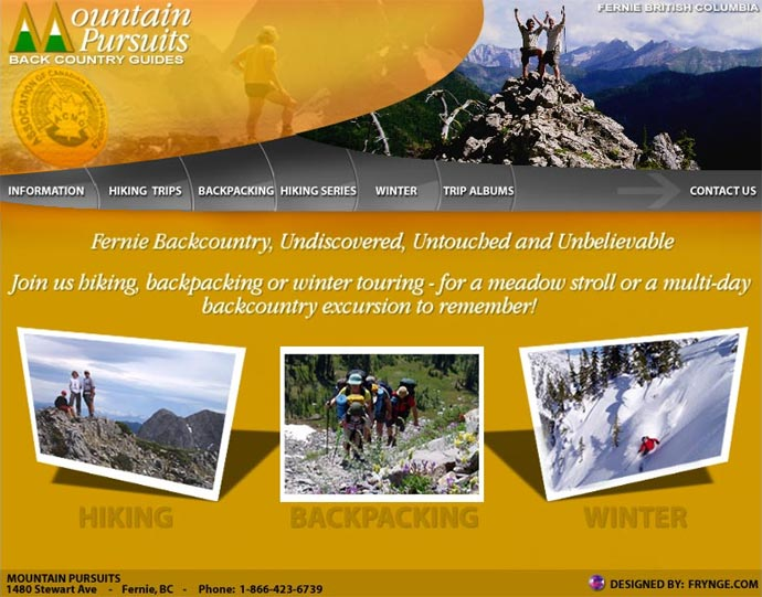 Mountain Pursuits Website Redesign